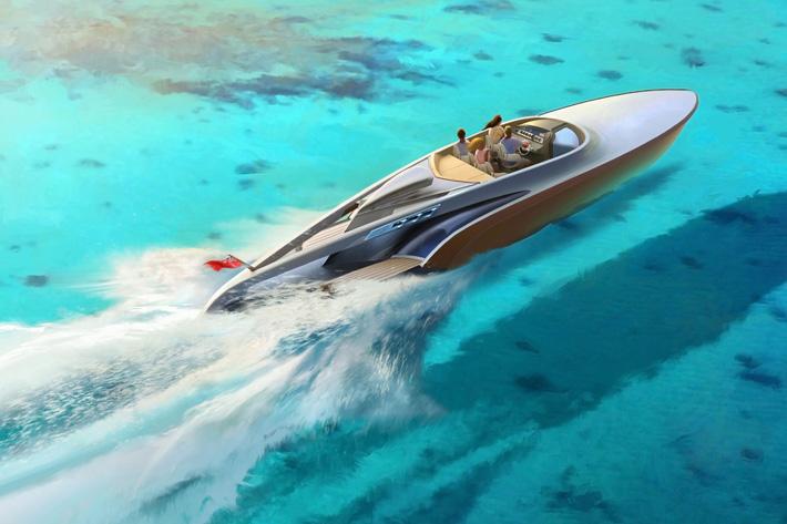 Stunning yacht design Spitfire Spitfire on water aeroboat spitfire claydon reeves