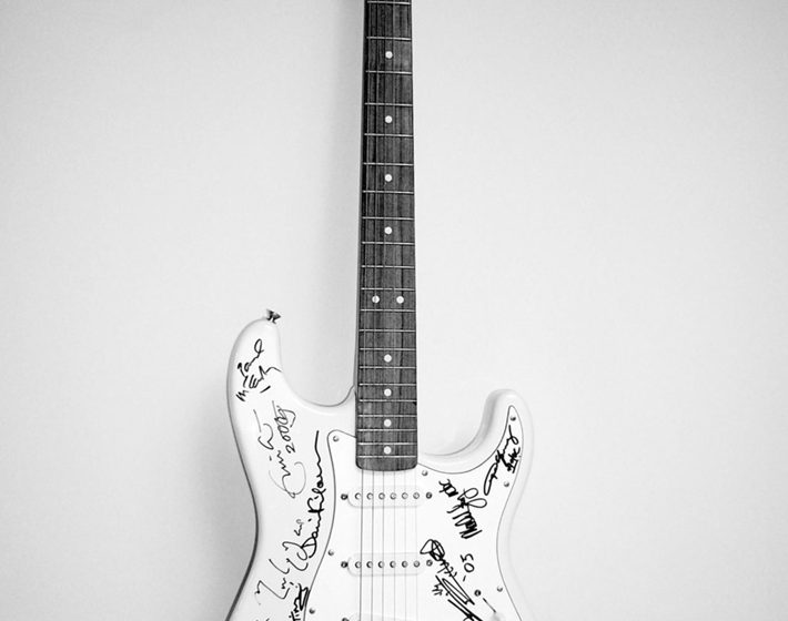 """A unique Fender Stratocaster Guitar came out as the most notable thing auctioned to raise money for the Reach Out to Asia charity."" World's Most Expensive Guitar: Fender Standard Series Stratocaster World's Most Expensive Guitar: Fender Standard Series Stratocaster 110 710x560   110 710x560"