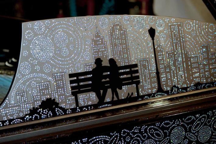3 Million Dollar Steinway Piano Inspired by New York Million Dollar Steinway Piano Inspired by New York 3