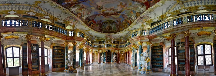 """incredible libraries around the world"" 7 of the most impressive libraries around the world 7 of the most impressive libraries around the world Wiblingen Monastery Library Germany"