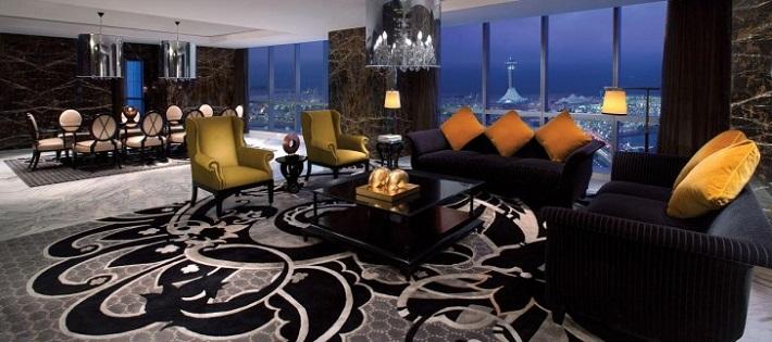 Most exclusive hotel suites: Royal Etihad hotel suites The most exclusive hotel suites in the world jumeirah at etihad towers royal etihad suite 02 hero