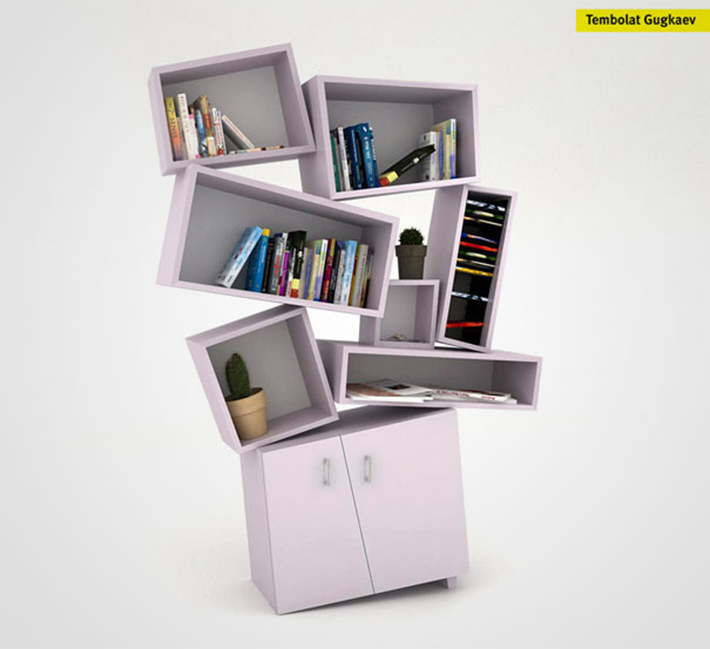 Tectonic Bookcase 5 of the most beautiful wooden bookshelves 5 of the most beautiful wooden bookshelves Tectonic Bookcase
