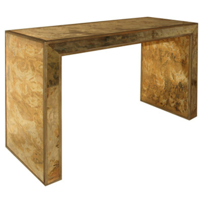 The most expensive gold console table The most expensive gold console table The most expensive gold console table Worlds Away Madison Gold Reverse