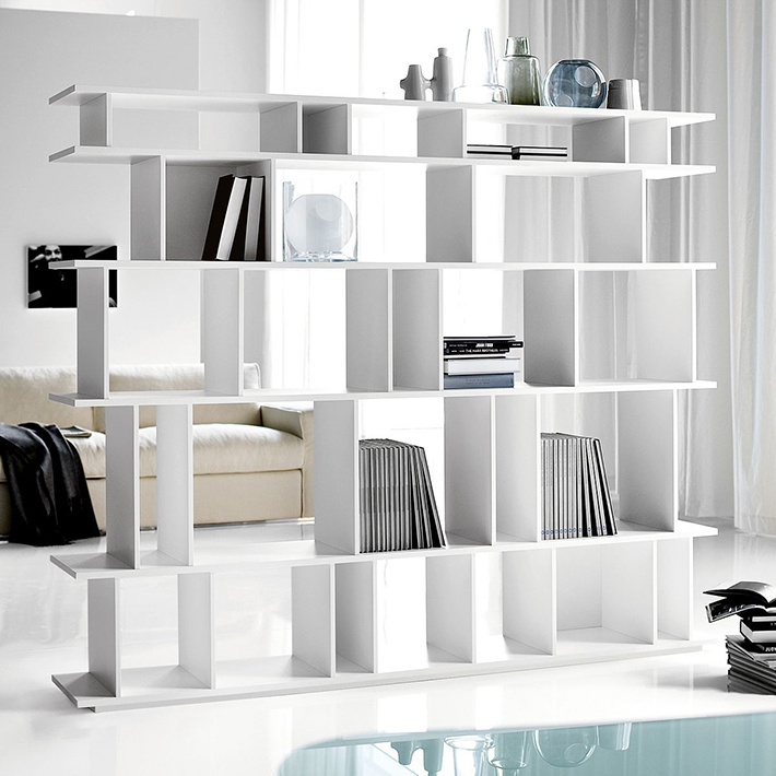Top 10 Contemporary living room bookshelves Top 10 Contemporary living room bookshelves Top 10 Contemporary living room bookshelves furniture contemporary bookcase room dividers with flex hi gloss rollable flooring and enright white sofa in cool living room suitable bookcase room dividers design