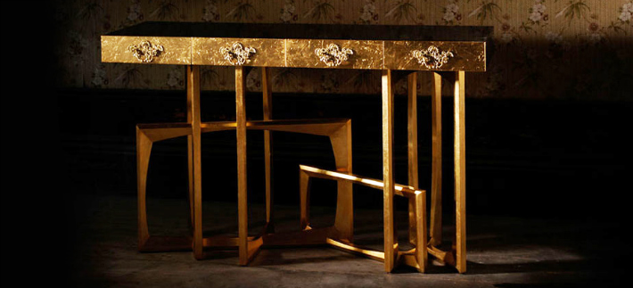 The most expensive gold console table The most expensive gold console table The most expensive gold console table metropolis gold leaf console table 01