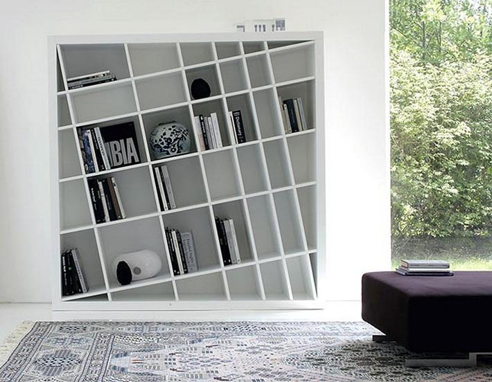 Top 10 Contemporary living room bookshelves Top 10 Contemporary living room bookshelves Top 10 Contemporary living room bookshelves sharp contemporary bookcase by norberto delfinetti