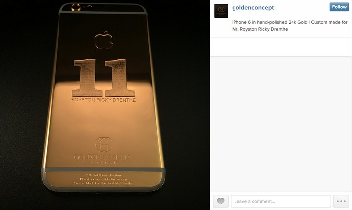 Luxury Gold Iphone Case cristiano ronaldo Cristiano Ronaldo's Golden iPhone Case 11