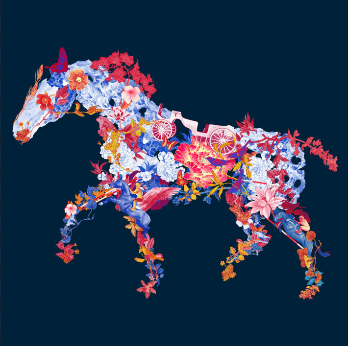 floral-horse Art Central: Hong Kong's newest art fair Art Central: Hong Kong's newest art fair floral horse1