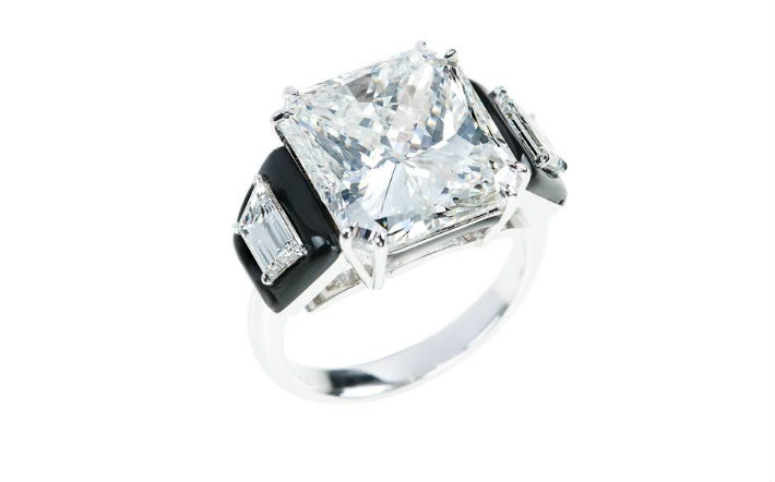 Diamond and black enamel engagement ring by Nikos Koulis. Black enamel is the designer's signature touch. Jewelry Innovations at Baselworld 2015 Jewelry Innovations at Baselworld 2015 nick 4