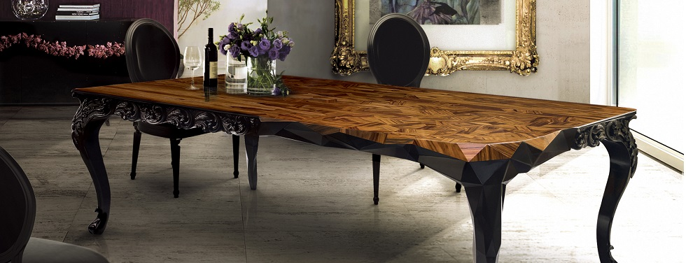 Royal Dining Table by Boca do Lobo – The Wood Carving Art