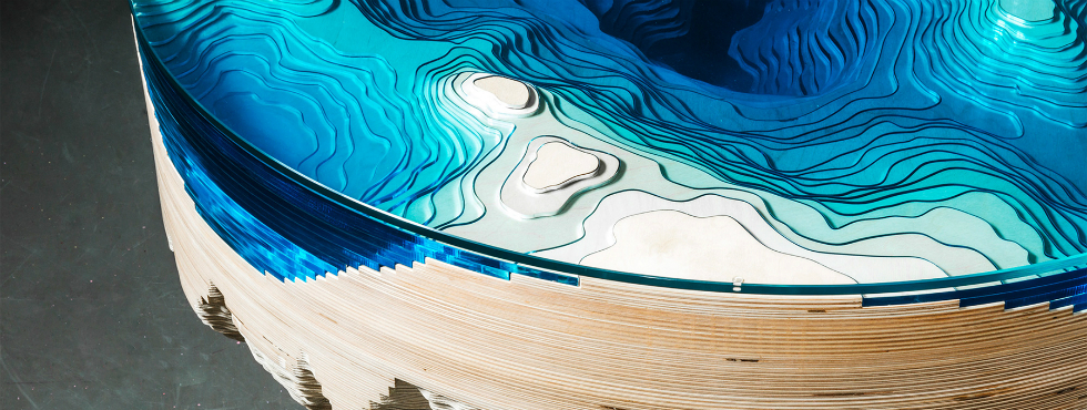 Limited Edition Ocean Cross-Section Table by Duffy London Duffy London Limited Edition Ocean Cross-Section Table by Duffy London Feature 3