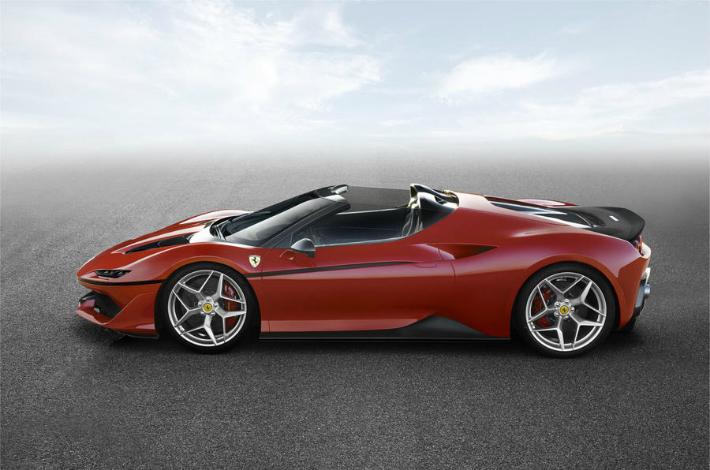 ferrari Limited-edition Ferrari J50 revealed in Japan ferrari j50 side
