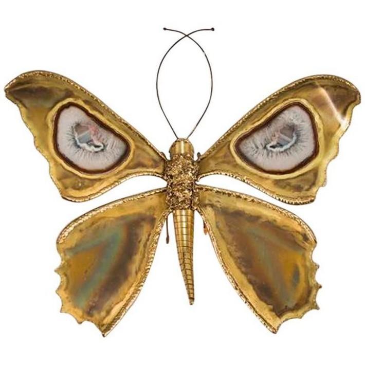 Impressive Butterfly Sconce by Henri Fernandez, henri fernandez Limited Edition Furniture by Henri Fernandez Impressive Butterfly Sconce by Henri Fernandez