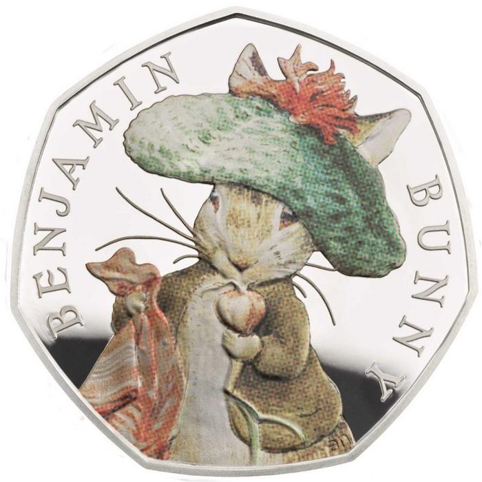 Beatrix Potter's Limited Edition 50p coins Beatrix Potter Beatrix Potter's Limited Edition 50p coins 2017 RM Beatrix Potter Benjamin Bunny REV