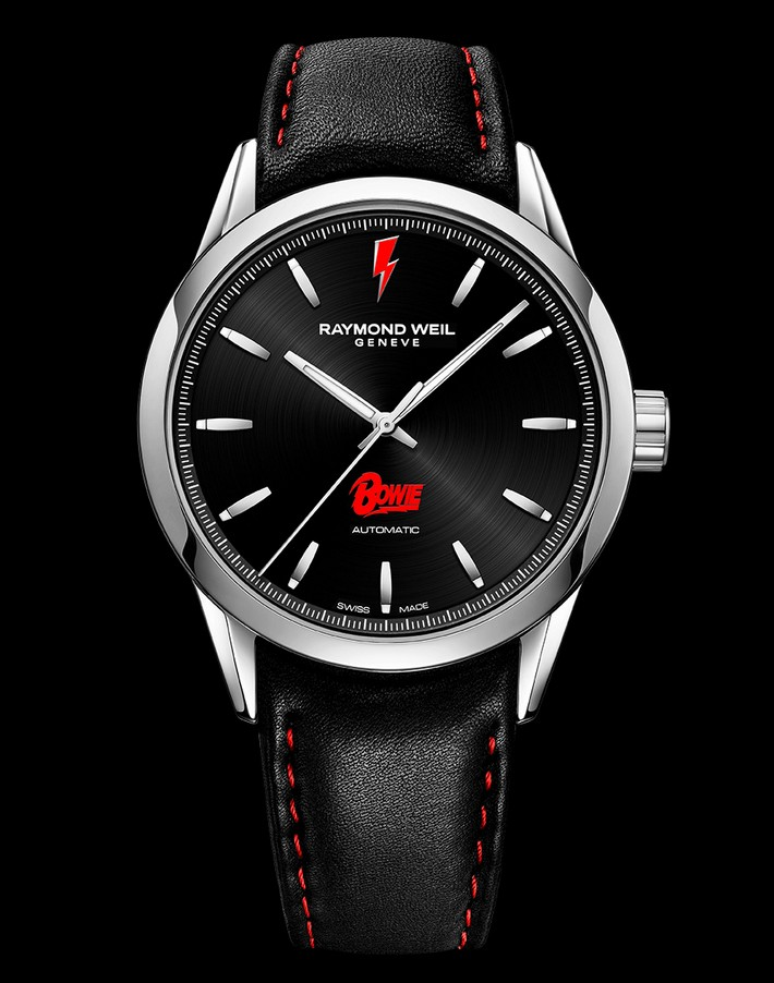 Limited-edition Swiss watch in honor of David Bowie David Bowie Limited-edition Swiss watch in honor of David Bowie Raymond weil david bowie limited edition