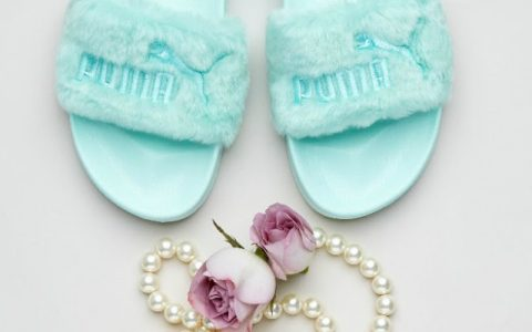 rihanna Rihanna and Puma Release New Limited Edition Fenty Fur Slides feature 5 480x300