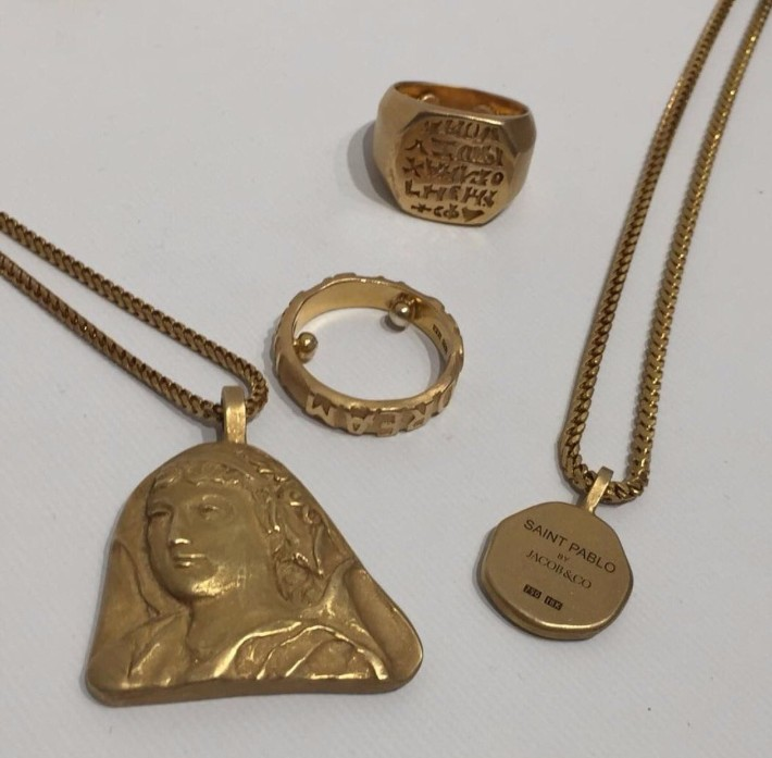 Kanye West, Yeezy, jewelry collection, limited edition, expensive jewelry, exclusive design jewelry collection YEEZY Jewelry collection by Kanye West available at Colette YEEZY Jewelry collection by Kanye West available at Colette 4