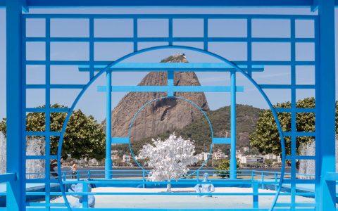 sugarloaf mountain Daniel Arsham Blue Japanese Zen Garden overlooks Rio's Sugar Loaf Mountain FB 12 1 480x300