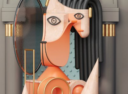 Picasso's Abstract Paitings in 3D Illustrations by Omar Aqil illustrations Picasso's Abstract Paitings in 3D Illustrations by Omar Aqil feature 420x311
