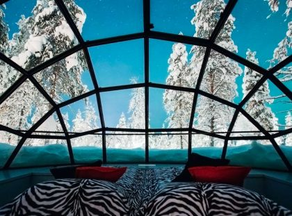Lapland's luxury glass Igloos will give you the night sky in fully comfort