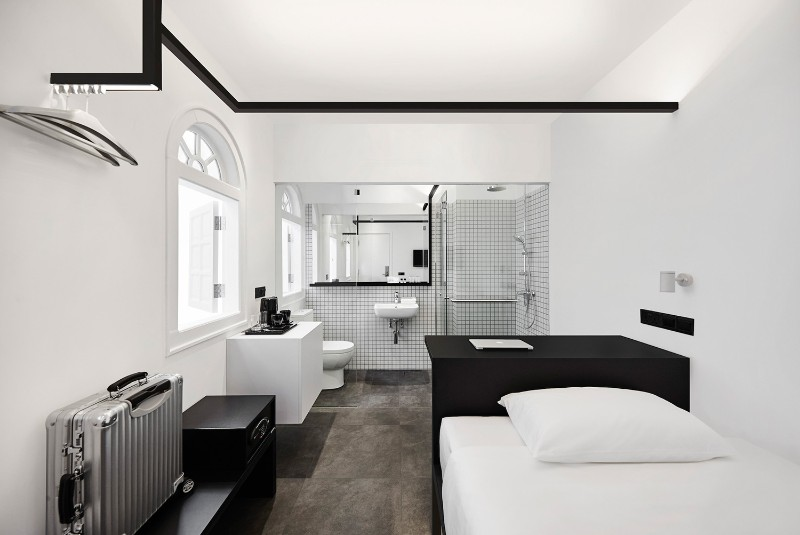 Hotel Interior Design Luxury Minimalist Monochromatic Style