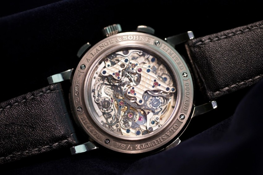 watch The First Triple Split Watch At SIHH Event Peter Marino  s Louis Vuitton Store Has Hand Painted Columns4