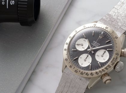 Sneak Peek: Phillips Auction With Daytona Rolex rolex Sneak Peek: Phillips Auction With Daytona Rolex rolex cosmograph daytona the unicorn in 18 karat white gold reference 6265 2 420x311