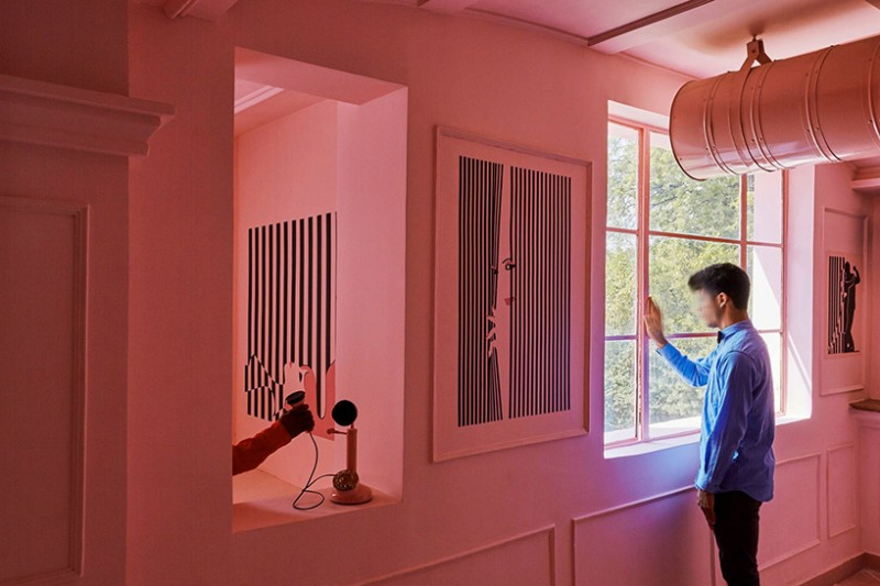 wes anderson Luxury Restaurant inspired by Wes Anderson Work pink zebra feast india company kanpur india renesa designboom 12