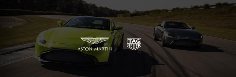 Tag Heuer tag heuer Tag Heuer & Aston Martin: Special Edition Timepiece Celebrates Luxury Partnership 06 HEADER TAG Heuer Aston Martin Geneva Motor Show