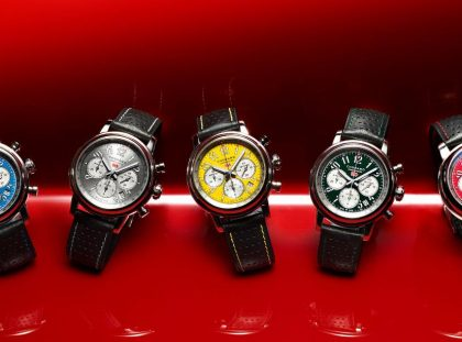 Chopard Unveils New Mille Miglia Racing Colours chopard Chopard Unveils New Mille Miglia Racing Colours 1064 Chopard Mille Miglia Racing Colours Full Collection 0 xlarge 1 420x311