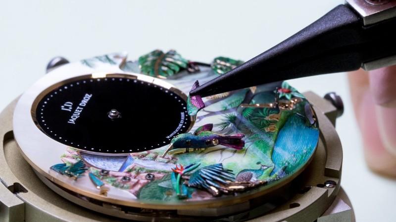 timepiece timepiece Jaquet Droz Unveils Tropical Bird Timepiece 3781d5ac b94f 11e7 affb 32c8d8b6484e 1280x720 162027