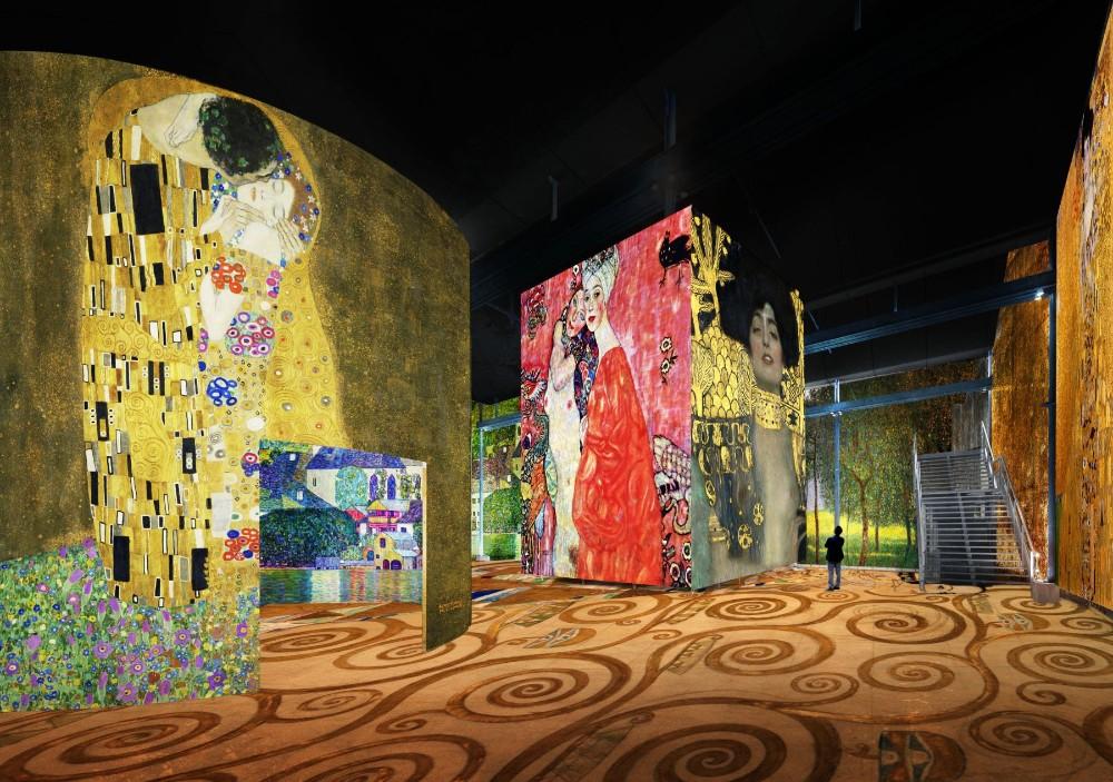 atelier des lumières Atelier des Lumières Marks Opening with Gustav Klimt Atelier des Lumi  res Marks Opening with Gustav Klimt 5