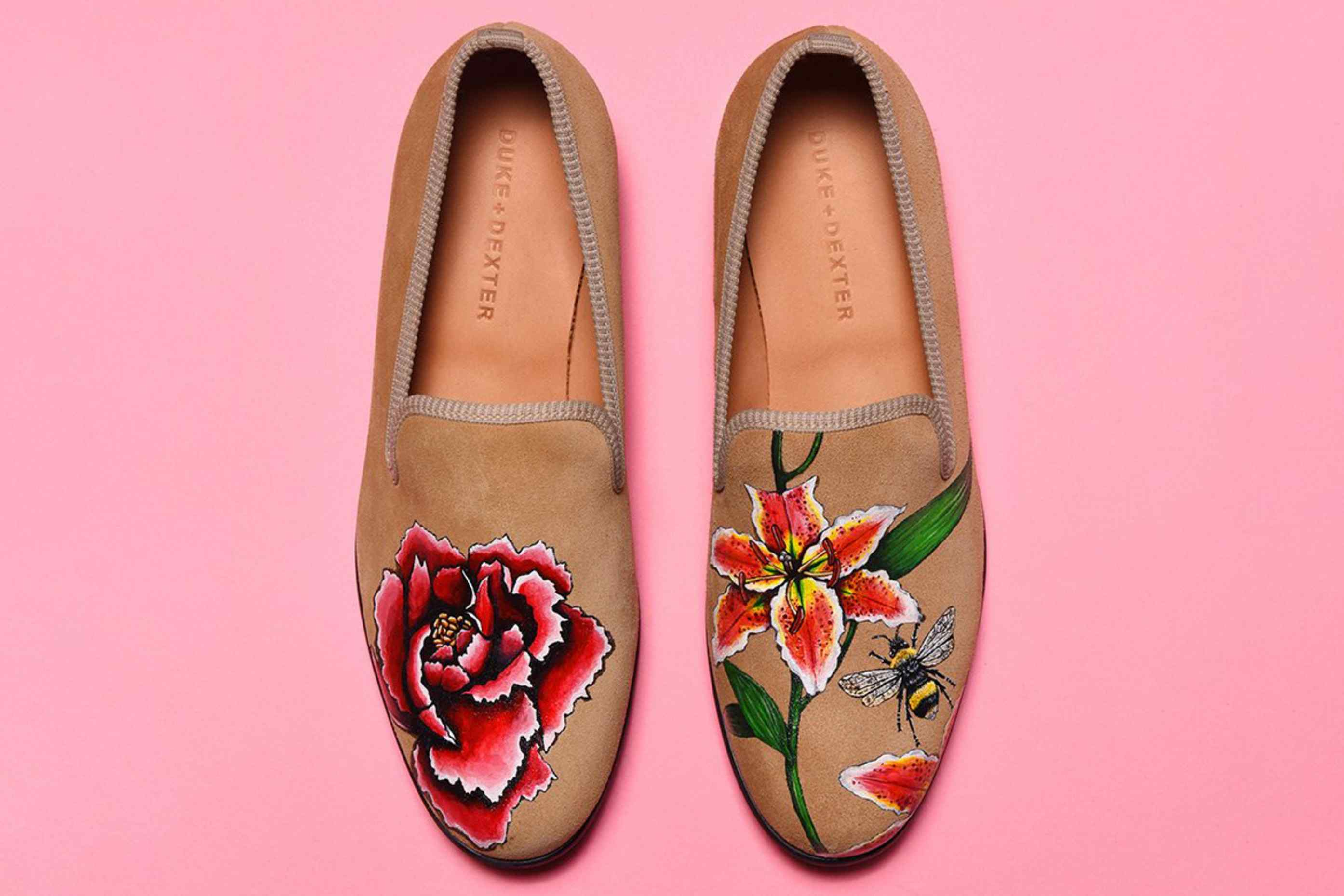Discover Duke Dexter Exclusive Hand Painted Shoes – Design Limited Edition