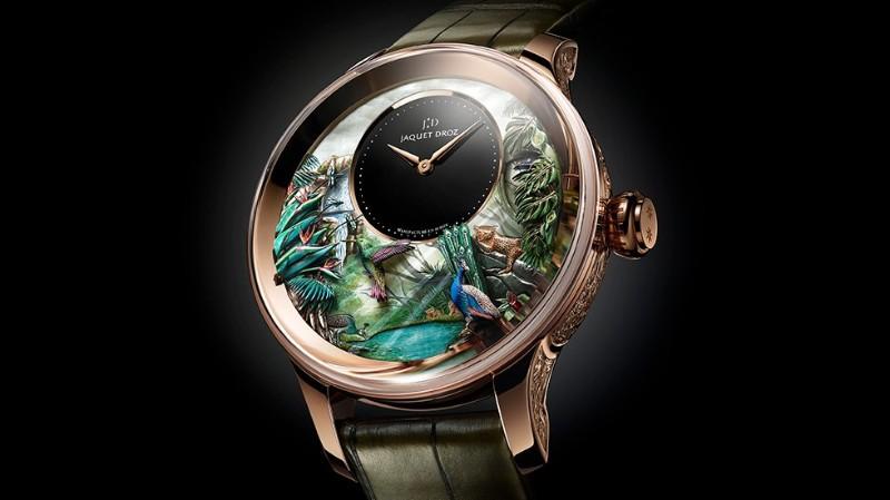 timepiece Jaquet Droz Unveils Tropical Bird Timepiece Jaquet Droz TropicalBirdRepeater