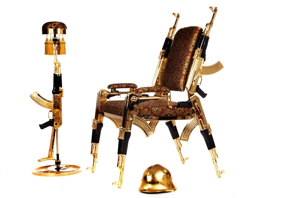 Limited Edition: Original Design AK47 Chair ak47 chair Limited Edition: Original Design AK47 Chair Limited Edition Original Design AK47 Chair 4