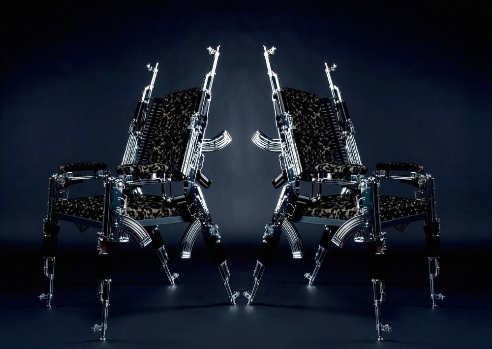 Limited Edition: Original Design AK47 Chair ak47 chair Limited Edition: Original Design AK47 Chair Limited Edition Original Design AK47 Chair 5