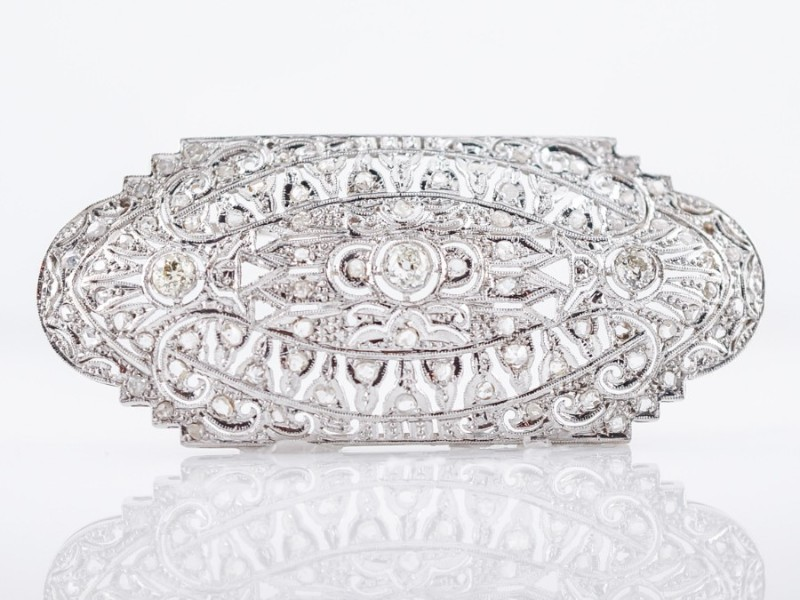 filigree Must See The Design and Craftsmanship Testimony: Filigree Jewelry Antique Brooch Art Deco Filigree by Filigree Jewelers