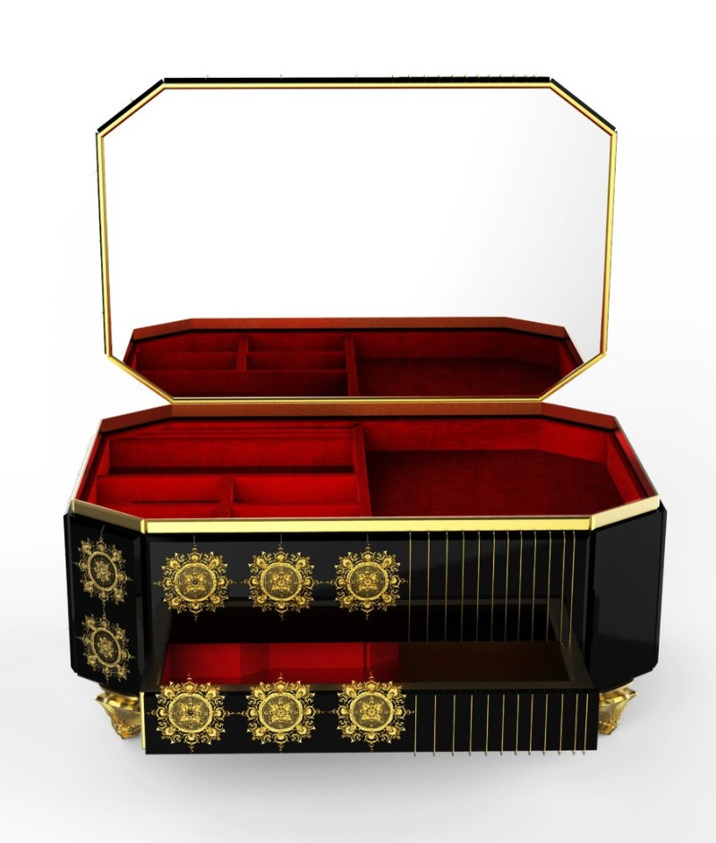 filigree Must See The Design and Craftsmanship Testimony: Filigree Jewelry Filigree Jewelry Case by Boca do Lobo 4