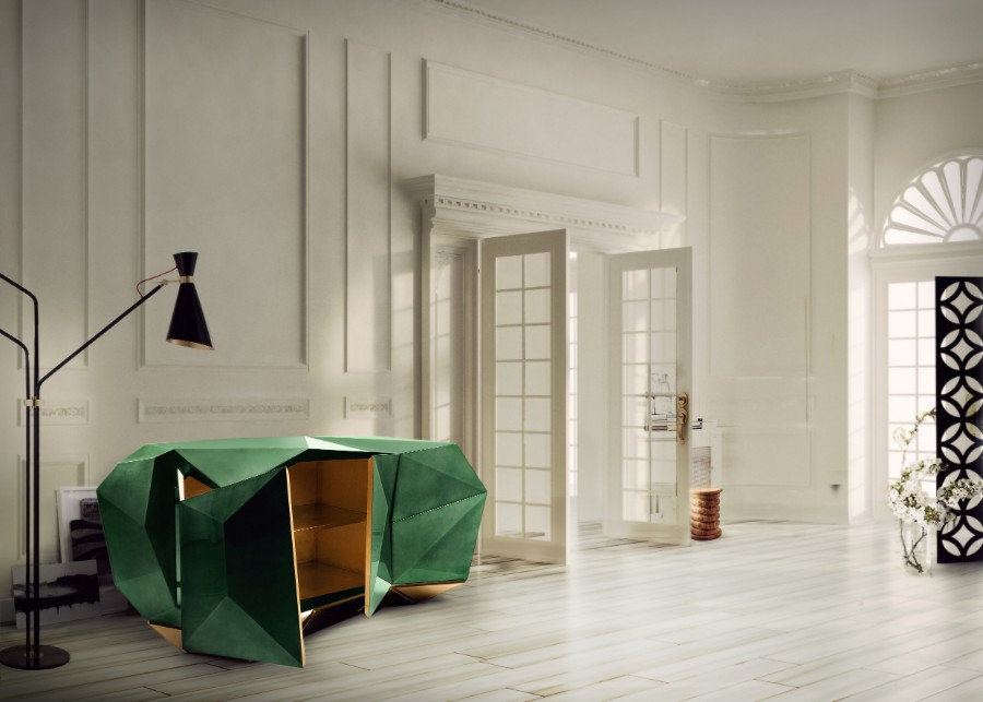 luxury furniture Luxury Furniture Behind The Scenes: The Leaf Gilding Technique diamond emerald 06