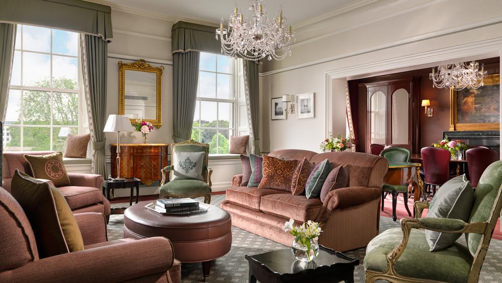 suites suites Top 6 Most Luxury Suites in Europe to Explore This Summer shelbourne princess grace suite lounge