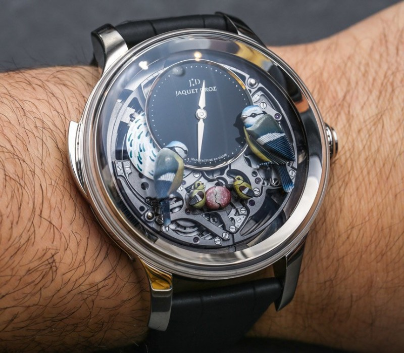 unique watches Discover These Unique Watches Inspired by Nature Jacquet Droz Bird Repeater Automaton Watch 8