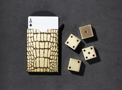 L'Objet Crocodile Box | Luxury Design Playing Cards