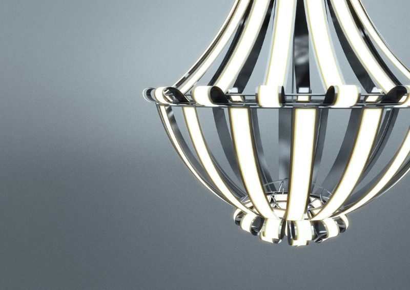 Luxury Chandelier LG Oled by Alexandre Boucher