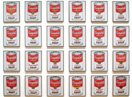 Throwback Thursday - A look at Andy Warhol Most Iconic Work andy warhol Throwback Thursday – A look at Andy Warhol Most Iconic Work campbells soup cans FT 420x311